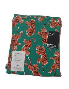 Bonds Size 1 PJ baby kids sleep set short sleeve unisex green  tiger KWWVK