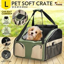 Pet Carrier Portable Soft Crate Cage Dog Cat Car Booster Seat Travel Carry Bag