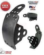 Motorcycle Side Mount License Plate Bracket Kit For Cruiser Chopper Bobber Black