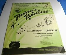 1946 How Are Things In Glocca Morra Vintage Sheet Music From Finian'S Rainbow