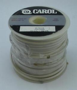 Carol Câble Plastique Cuivre Primaire Câble Blanc 12 Jauge 100 FT 19411