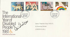 (74286) GB FDC DENNIS THATCHER SIGNED & DOWNING ST ADDRESSED Disabled Year 1981