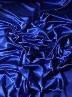 "3 Mtr Shiny Royal Blue Crepe Back Satin Fabric 58"" Wide Bridal Dress Prom Crafts"