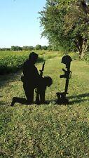 The Fallen Soldier Yard Art Decoration