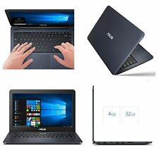 Asus VivoBook L402SA 14Laptop Intel N3060 32GB SSD 4GB W10 Ultrabook+Case+Office