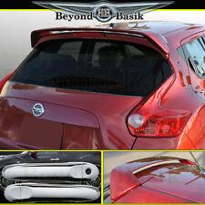 For 2011-2017 Nissan Juke Spoiler+Chrome Door Handle Covers w/o Smart Keyholes