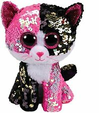 Ty - Flippables - Malibu the Cat Sequin Soft Toy 23 cm