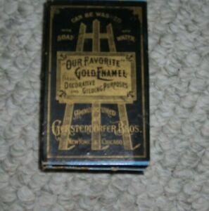 Old-Time Our Favorite Gold Enamel Gerstendorfer Bros.