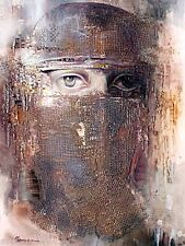 ACEO / Mysterious Woman /  LE Print of Original Painting by Sergej Hahonin