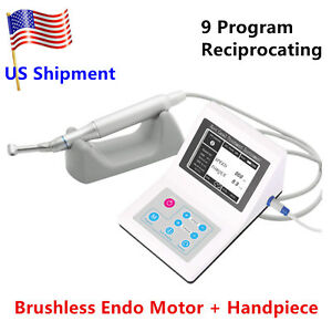 Reciprocating Dental Electric Endo Motor + 1pack 25mm Endodontic + Handpiece