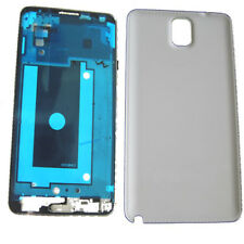 Samsung Galaxy Note 3 III N9000 Fascia Housing Back Battery Cover Bezel white UK