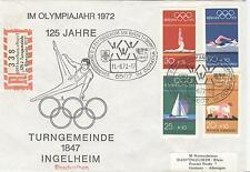 GERMANY Olympische Spiele Olympic Games 1972 Oly. R cover Ingelheim a Rhein 1