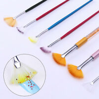 17/23mm Colorful Handle Nail Art Shade Gradient Fan Brush Pen  DIY Tools