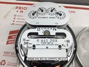 Vintage  Duncan Electric Meter