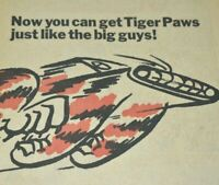 1967 Vintage Print Ad Uniroyal US Royal Tiger Paws Tires For Bicycles Bikes