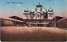 Czech Plzen - Hlavni Nadrazi circa 1920 unused postcard