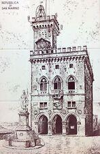 Torre Repubblica di San Marino 1966 numero 6 mattonelle composte ceramica spica