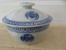 BONBONNIERE Porcelaine CHINE décor BLEU 11,5 cm de diamètre