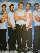 """'NSYNC """"GROUP POSING IN WHITE SHIRTS"""" POSTER FROM ASIA-Justin Timberlake & Group"""