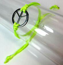 ELEGANT NEON GREEN PEACE BRACELET BRAND NEW EYE CATCHING FAST DELIVERY (CL1)