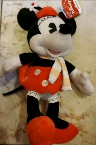 """DISNEY Minnie Mouse beanie Plush Toy 10"""" NWT, NEW with Tags"""