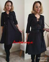 Zara Midi Black Flowing Dress SIZE XS UK 6