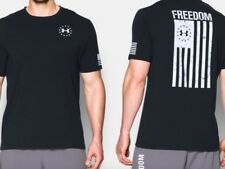 Under Armour * UA Freedom Flag Tshirt Heatgear for Men Black