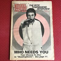 NME: New Musical Express 12 Aug 1978 Pete Townsend, Rezillos, Tourists, Merger..