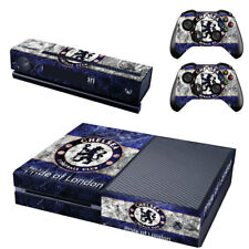 Chelsea Xbox One Console SKIN + 2 x Controller Stickers Decal FacePlate - Pad