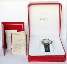 Cartier Pasha Herren Uhr Chronograph 1532 Box Papiere Zertifika schöner Zustand