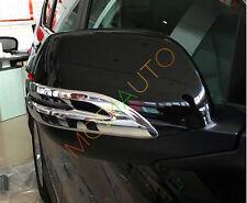 2X ABS Chrome Door Rearview Mirror Strip Cover Trim For Honda CRV CR-V 2012-2016