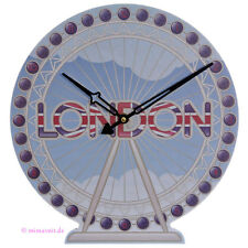 Wanduhr Bilderuhr Uhr Bild London Eye Großbritannien Riesenrad