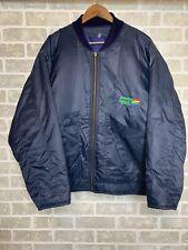 Vintage Benetton Formula 1 Racing Team Logo Jacket Dark Navy Blue - Size: M