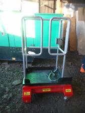 Bison X step access platform cherry picker scissor lift man basket pop up