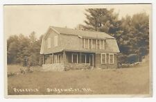 "RPPC, Cottage ""Pineconia"", Bridgewater, New Hampshire, 1917"