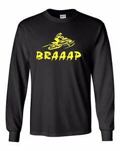 BRAAAP Long Sleeve T-Shirt Ski-Doo Arctic Cat Polaris Yamaha Yellow Sizes to 5X!