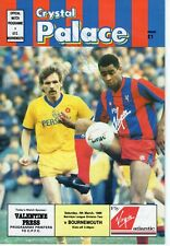 Crystal Palace v Bournemouth 4.3.1989 AUTOGRAPHED x 1 Palace player