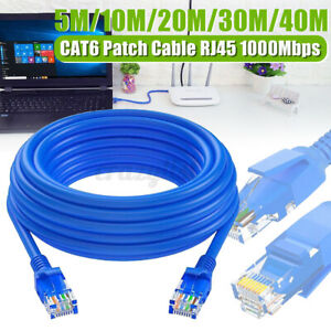 5M/10M/20M/30M/40M CAT6 Ethernet Cable RJ45 1000Mbps Network Patch Lea