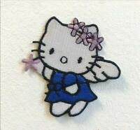 Hello Kitty Angel Blue Embroidered Iron on Sew on Patch j1714