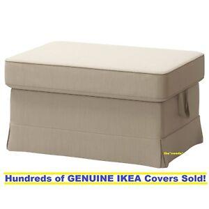 Ikea EKTORP Footstool / Ottoman Slipcover Cover NORDVALLA DARK BEIGE New! SEALED