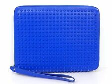 Auth Christian Louboutin Studded Leather Zippy Around iPad Tablet Case R480