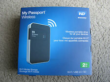 New WD My Passport Wireless 2TB Portable External Hard Drive WDBDAF0020BBK-NESN