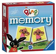 Ravensburger 21247 Bing Bunny Mini Memory Pairs Snap Card Game Children - Multi