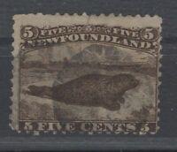 G129749/ NEWFOUNDLAND / CANADA / SG # 26 USED THIN PAPER – CV 230 $