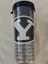 BYU Cougars 18 Oz Double Wall Insulated Tumbler Utah Bringham Young Travel Mug