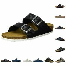 Birkenstock Arizona Black Birko-flor Womens Leather Sandals 7 UK 40 EU 9 US