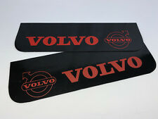 Mud Flaps Truck Lorry VOLVO 18x60cm Smooth Black with Red Logo