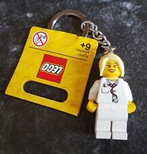 LEGO Female Nurse Doctor Keychain with Blonde Pony Tail Hair NEW
