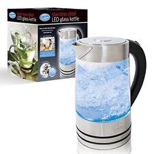 DEL Illuminated Glass DEL Kettle Cordless Electric Boil Water Tea Electric Jug