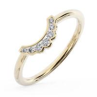 0.10 Ct Channel Set Round Brilliant Cut Diamond Wedding Ring in 18K Yellow Gold